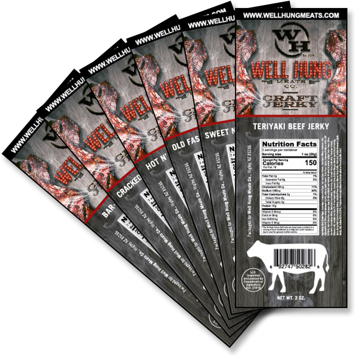 Well Hung Meat Jerky Labels